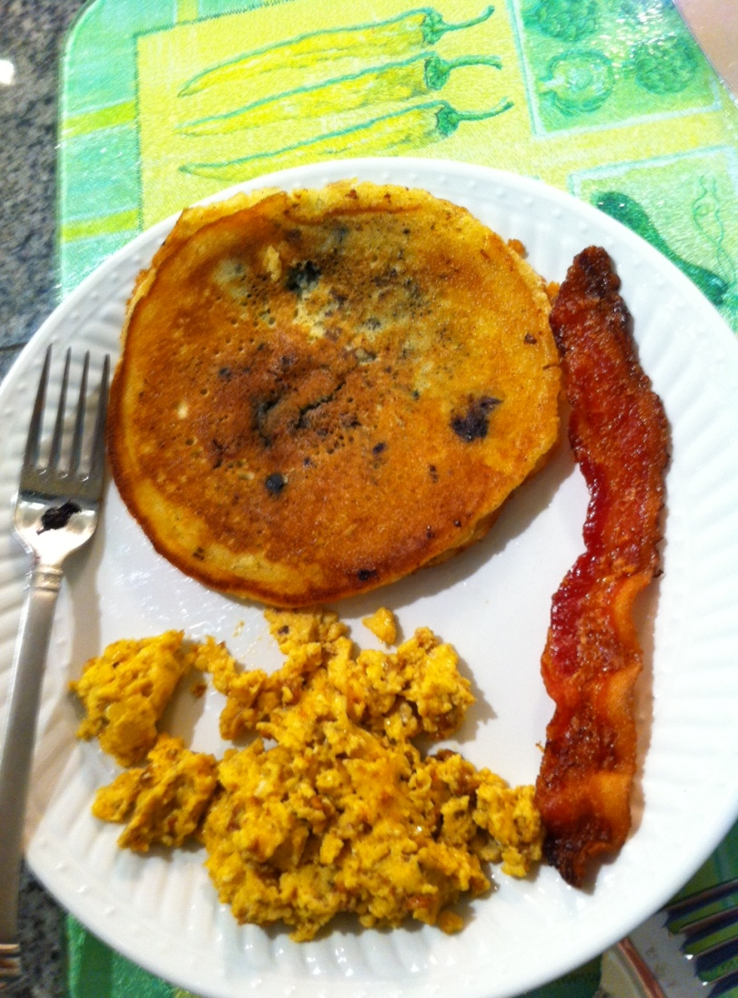 Eggs, Pancake, Bacon