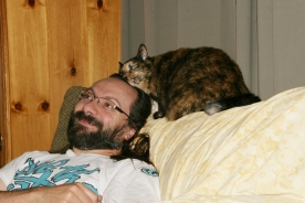 Meadow and my hubby.