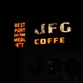 JFG Coffee sign - Knoxville, TN