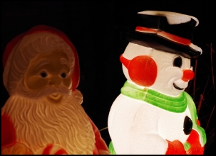 Frosty and Santa