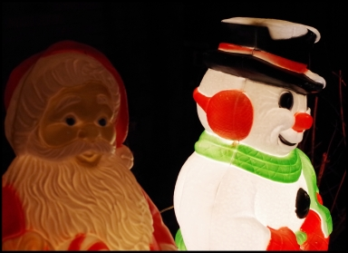 Frosty and Santa