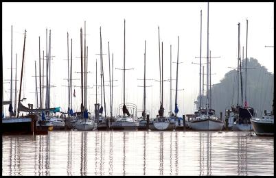 Sailboats Reflecting