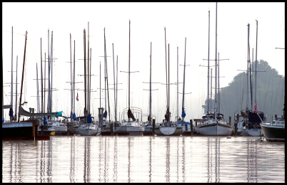 Sailboats Reflecting