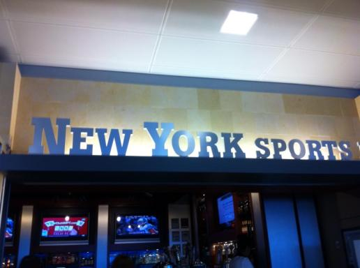 Bar in JFK that started our trip.