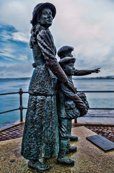 Anne Moore statue in Cobh, Ireland