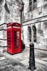 telephone booth 0719 bw and red signed sm