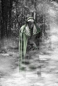Green Cloak and fog