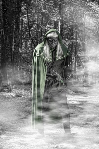 Green Cloak and fog