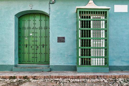 Green Door and Window