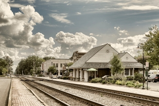 The train station in Ashland, VA.
