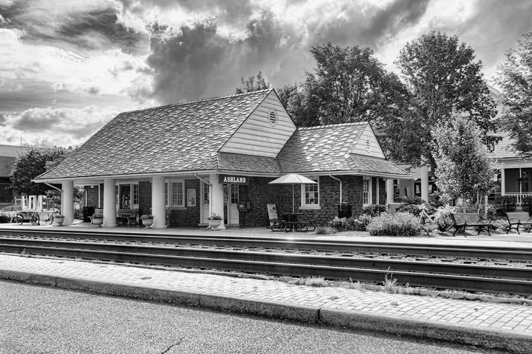 At the Station in BW by Sharon Popek