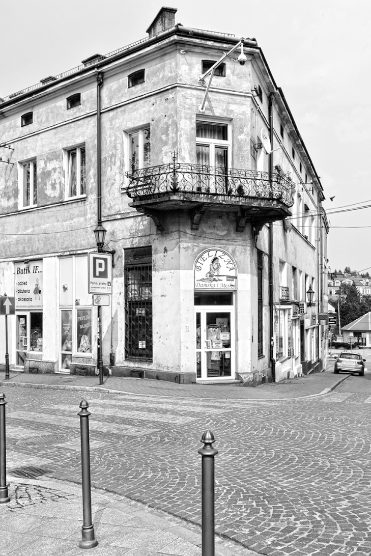 Wieliczka Corner Store Bw by Sharon Popek
